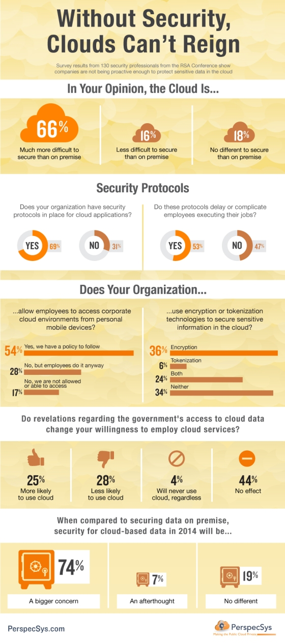 Infographic : Clouds Need Security To Reign