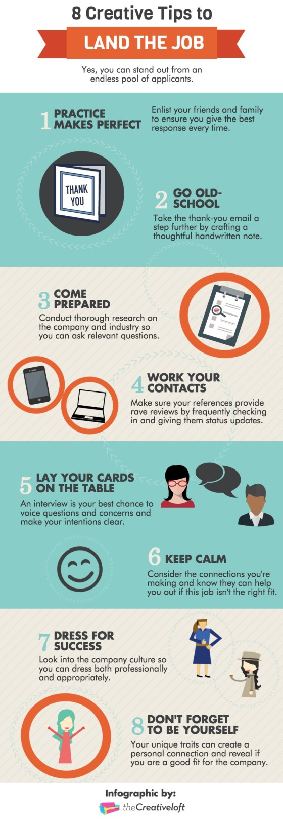 Infographic : 8 Creative Tips to Land the Job