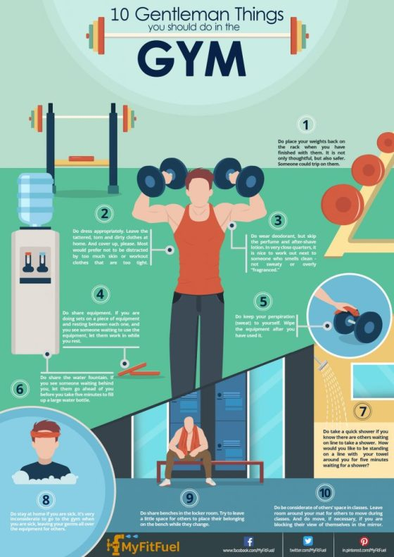Infographic : 10 Gentleman Things you should do in the Gym