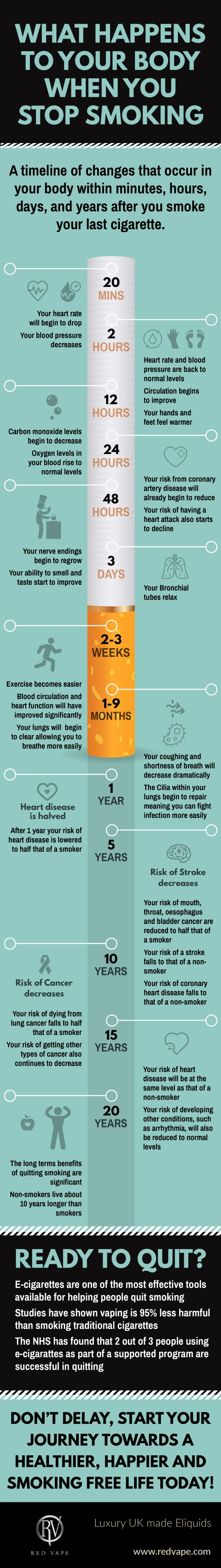 Infographic: Stop Smoking Health Improvment Timeline