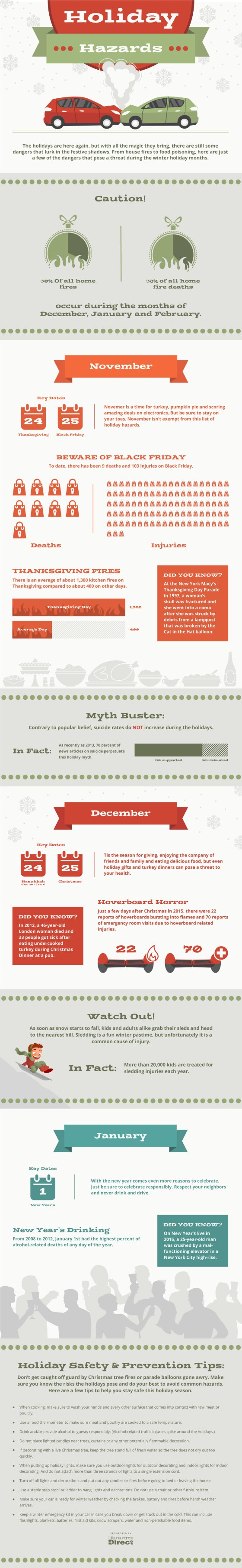 Infographic : Holiday Hazards